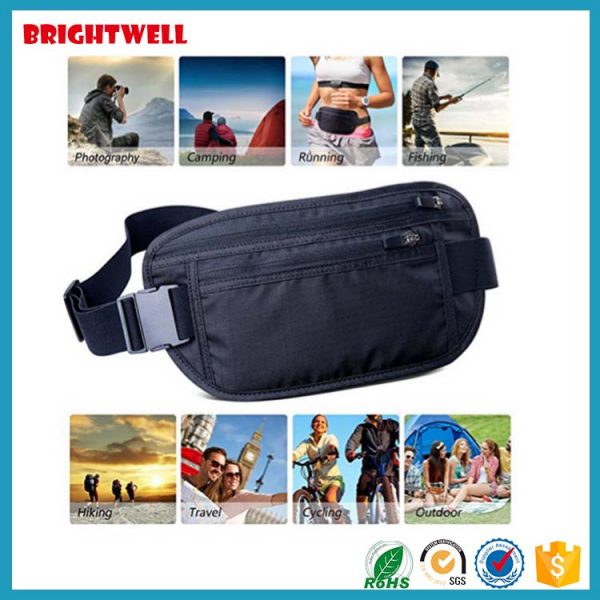 Newest Classic Slim Travel RFID Blocking Money Belt (6)