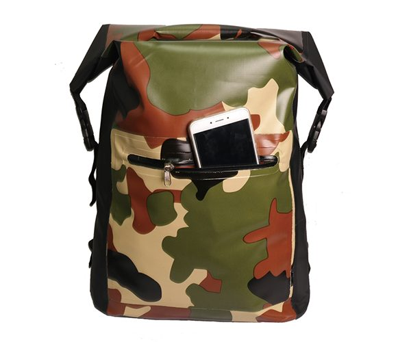 dry backpack camo