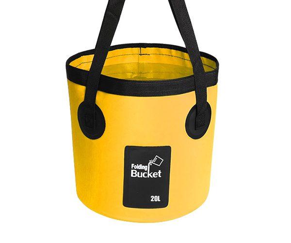 20L yellow fishing bucket