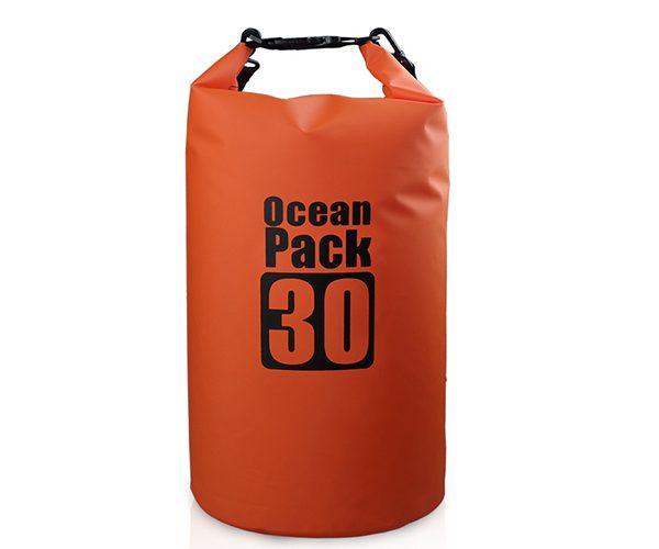 30L orange dry bag