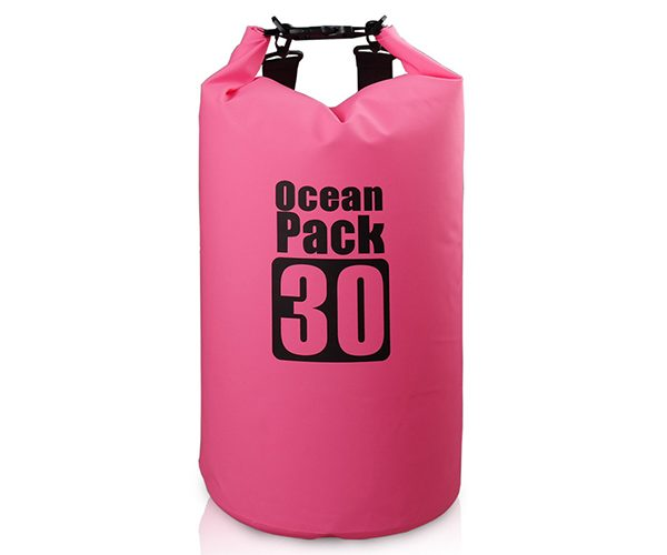 30L pink dry bag